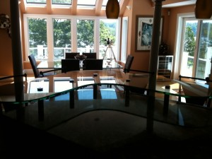 Kitchen Counter Top Glass Extension