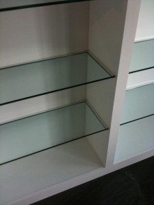 Custom Glass Shelving